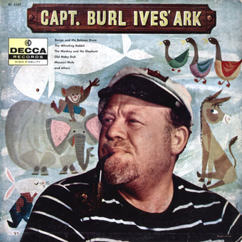 small image of Capt Burl Ives LP cover front with link to larger file