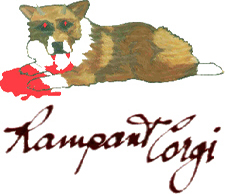 Rampant Corgi logo and link to details of audio and video projects